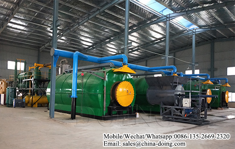 Waste tyre recycling pyrolysis plant