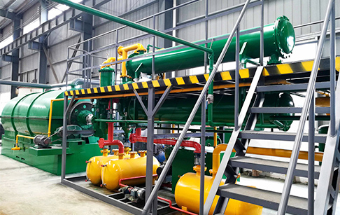 Mini tyre pyrolysis plant