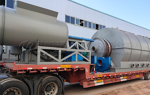 8 sets of waste tire pyrolysis plant were shipped to India