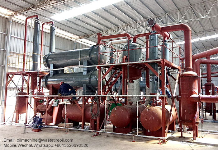 recycling waste tyre to oil pyrolysis plant