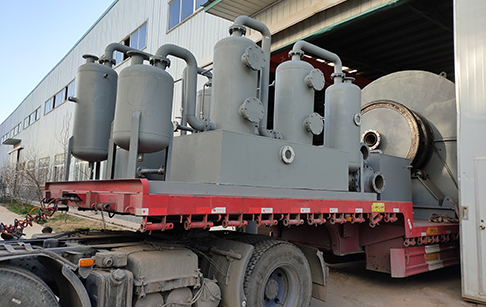 Two sets of 12TPD waste tire pyrolysis plants delivered to Mexico