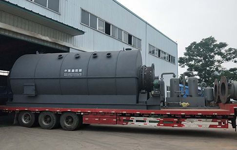 12T waste plastic pyrolysis plant was delivered to Romania