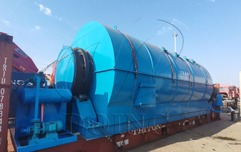 12TPD waste plastic pyrolysis plant was delivered to France