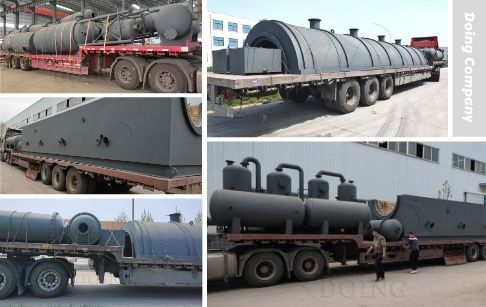 Two Sets 50TPD Continuous Automatic Waste Tire Pyrolysis Plant Sent to Yunnan, China